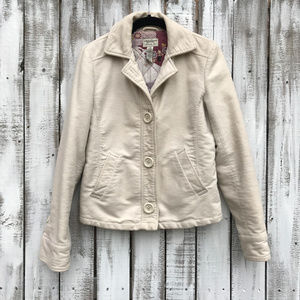 AE American Eagle Tan Cream Peacoat SZ S Quilted